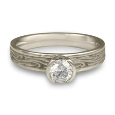 Extra Narrow Starry Night Engagement Ring in Diamond
