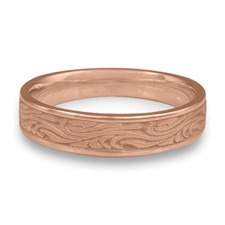 Narrow Starry Night Wedding Ring in 14K Rose Gold
