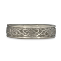 Narrow Celtic Hearts Wedding Ring in Stainless Steel