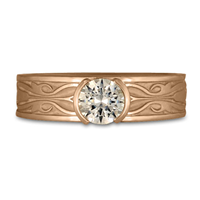 Narrow Tulip Braid Engagement Ring in 18K Rose Gold