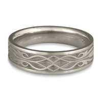 Narrow Tulip Braid Wedding Ring in Palladium