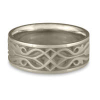 Wide Tulip Braid Wedding Ring in Palladium