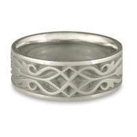 Wide Tulip Braid Wedding Ring in Platinum