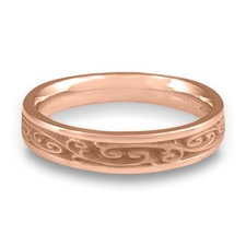 Extra Narrow Continuous Garden Gate Wedding Ring in 14K Rose Gold