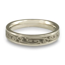 Extra Narrow Continuous Garden Gate Wedding Ring in Platinum