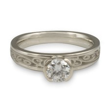 Extra Narrow Continuous Garden Gate Engagement Ring in Palladium