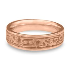Narrow Continuous Garden Gate Wedding Ring in 14K Rose Gold