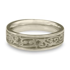 Narrow Continuous Garden Gate Wedding Ring in 14K White Gold