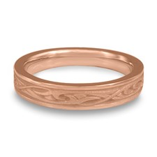 Extra Narrow Papyrus Wedding Ring in 14K Rose Gold
