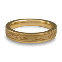 Extra Narrow Papyrus Wedding Ring in 14K Yellow Gold