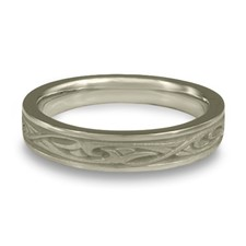 Extra Narrow Papyrus Wedding Ring in Stainless Steel