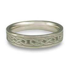 Extra Narrow Love Knot Wedding Ring in Platinum