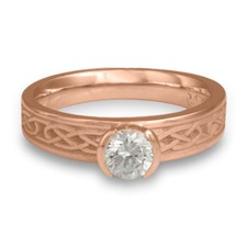 Love Knot Engagement Ring in 14K Rose Gold
