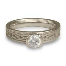 Love Knot Engagement Ring in Diamond