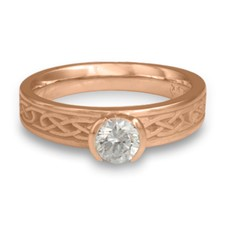 Love Knot Engagement Ring in 18K Rose Gold