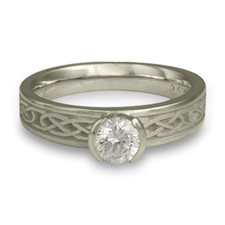 Love Knot Engagement Ring in Palladium