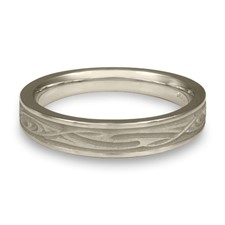 Extra Narrow Yin Yang Wedding Ring in Platinum