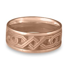 Wide Hugs and Kisses Wedding Ring in 14K Rose Gold