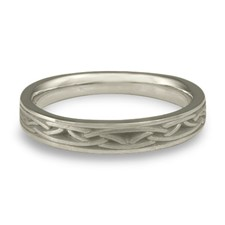 Extra Narrow Celtic Arches Wedding Ring in Platinum