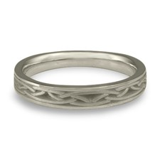 Extra Narrow Celtic Arches Wedding Ring in Stainless Steel