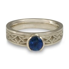 Extra Narrow Celtic Arches Engagement Ring in Sapphire