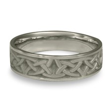 Narrow Celtic Arches Wedding Ring in Palladium