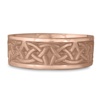 Wide Celtic Arches Wedding Ring in 14K Rose Gold