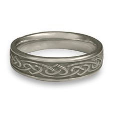 Narrow Heartstrings Wedding Ring in Palladium