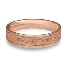 Narrow Cheek to Cheek Wedding Ring in 14K Rose Gold