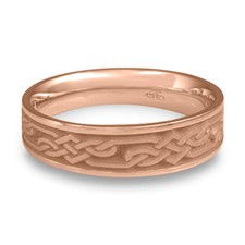 Narrow Lattice Wedding Ring in 14K Rose Gold