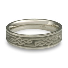 Narrow Lattice Wedding Ring in Stainless Steel