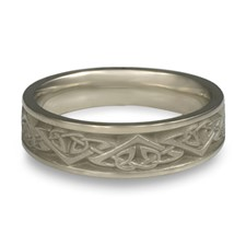 Narrow Monarch Wedding Ring in 14K White Gold