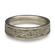 Narrow Monarch Wedding Ring in Stainless Steel