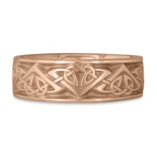 Wide Monarch Wedding Ring in 14K Rose Gold