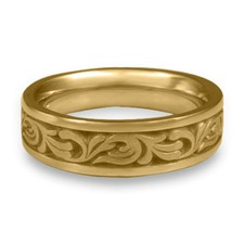Narrow Tradewinds Wedding Ring in 14K Yellow Gold