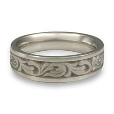 Narrow Tradewinds Wedding Ring in Stainless Steel