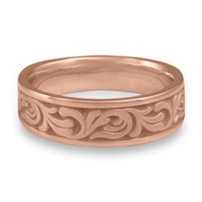 Wide Tradewinds Wedding Ring in 14K Rose Gold