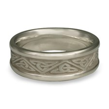 Narrow Self Bordered Trinity Knot Wedding Ring in Palladium