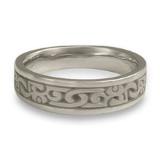 Narrow Luna Wedding Ring in Stainless Steel