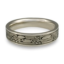 Narrow Zen Garden Wedding Ring in Stainless Steel