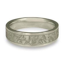 Narrow Bamboo Wedding Ring in Palladium