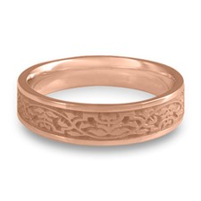Narrow Morocco Wedding Ring in 14K Rose Gold