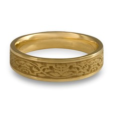 Narrow Morocco Wedding Ring in 14K Yellow Gold