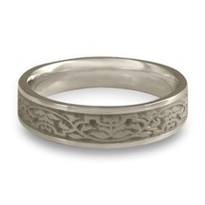 Narrow Morocco Wedding Ring in Palladium