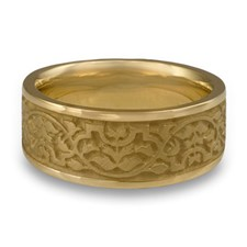 Wide Morocco Wedding Ring in 14K Yellow Gold