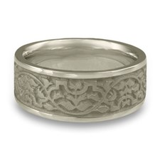 Wide Morocco Wedding Ring in Platinum