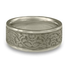 Wide Morocco Wedding Ring in Stainless Steel