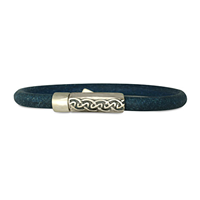 Petra Leather Bracelet in Sterling Silver