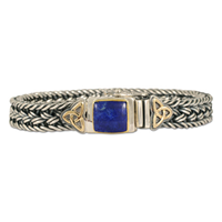 Aria Lapis Bracelet in 14K Yellow Gold Design w Sterling Silver Base