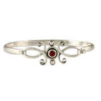 Viola Bracelet with Gem  in Sterling Silver